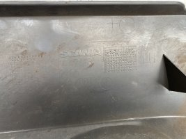 Кожух подножки левый верхний Scania
